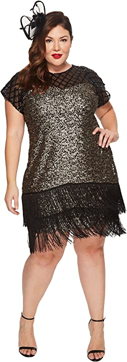 Unique Vintage - Plus Size Del Mar Flapper Dress