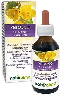 Kleinblütige Königskerze Verbascum thapsus Blüten und Blätter Alkoholfreier Urtinktur Naturalma | Flüssig-Extrakt Tropfen 100 ml | Nahrungsergänzungsmittel | Veganer