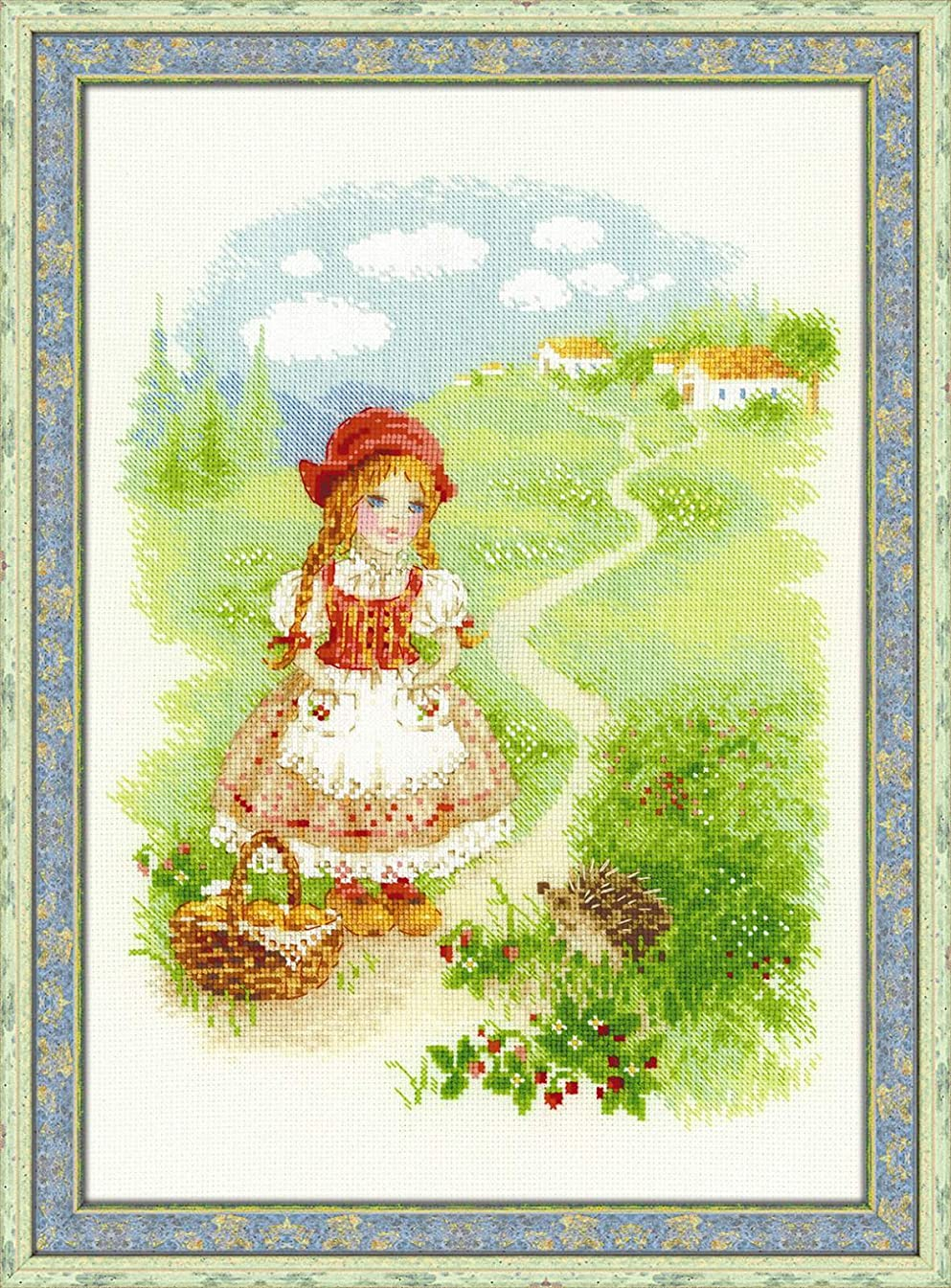 RIOLIS 1736 Little Red Riding Hood, Counted Cross Stitch Kit 8.25