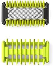 Philips OneBlade QP610/50 Rasoio Face + Body, Kit Corpo con 1 Lama, 1 Pettine Corpo, 1 Guaina Protettiva per Aree Sensibili