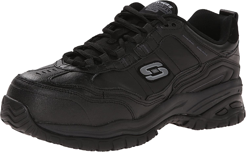 Skechers for Work 5 ☆ very popular Men's Soft Lace-Up Resista Genuine Stride-Chatham Slip