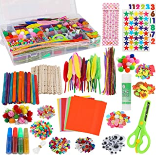 Arts and Crafts Supplies for Kids - Craft Art Supply Kit for Kids & Toddlers All in One D.I.Y. Crafting Collage School Sup...