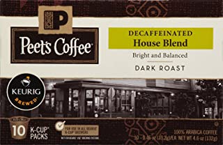 Peet's Coffee Decaf House Blend, Dark Roast, 60 Count Single Serve K-Cup..