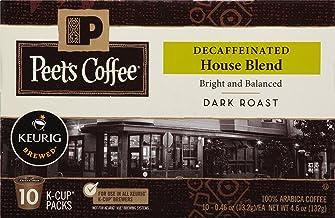 Peet's Coffee Decaf House Blend, Dark Roast, 60 Count Single Serve K-Cup..
