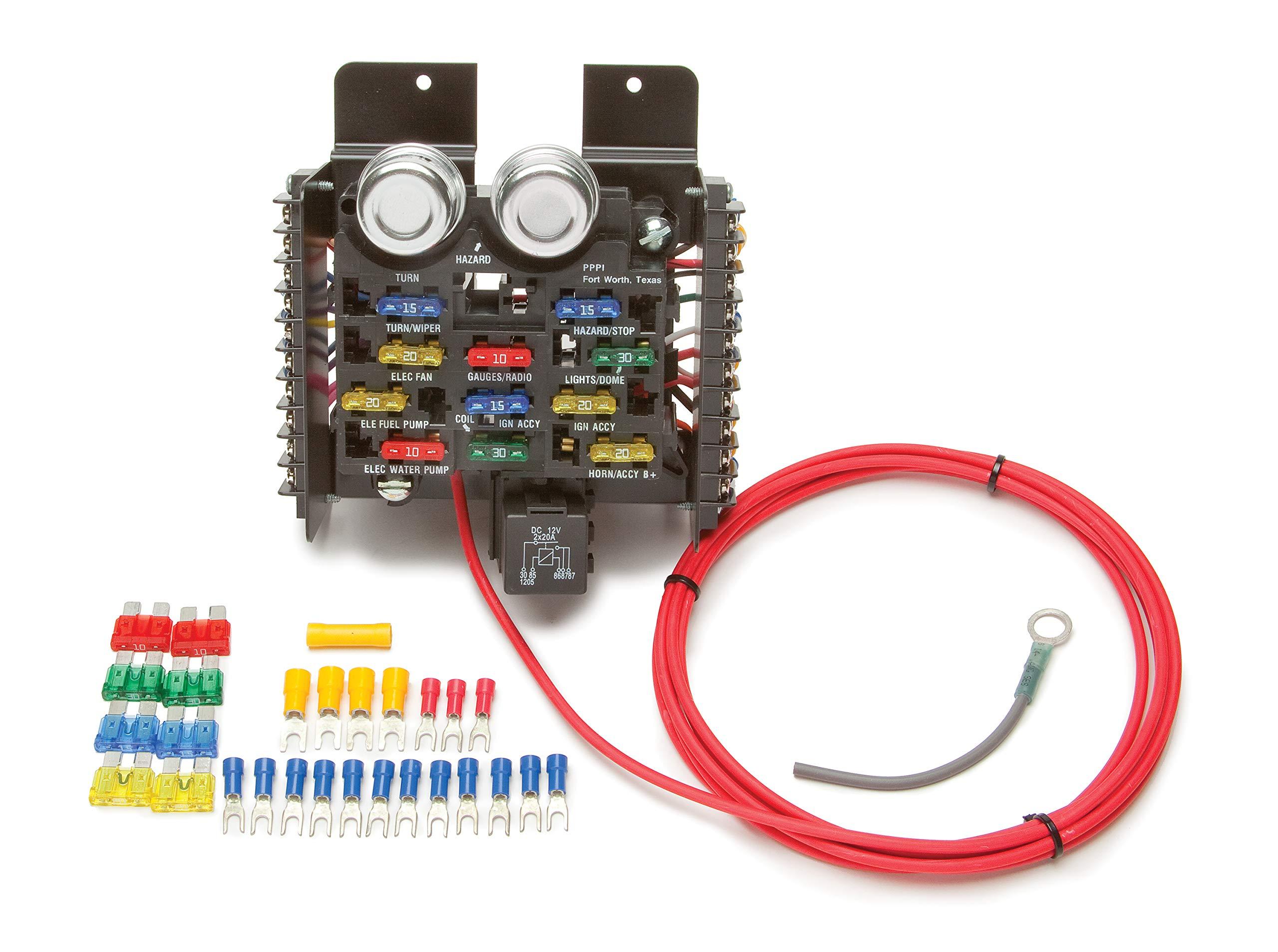 amazon.com: painless performance 50101 race/pro street pre-wired fuse block,  16-circuits : automotive  amazon.com