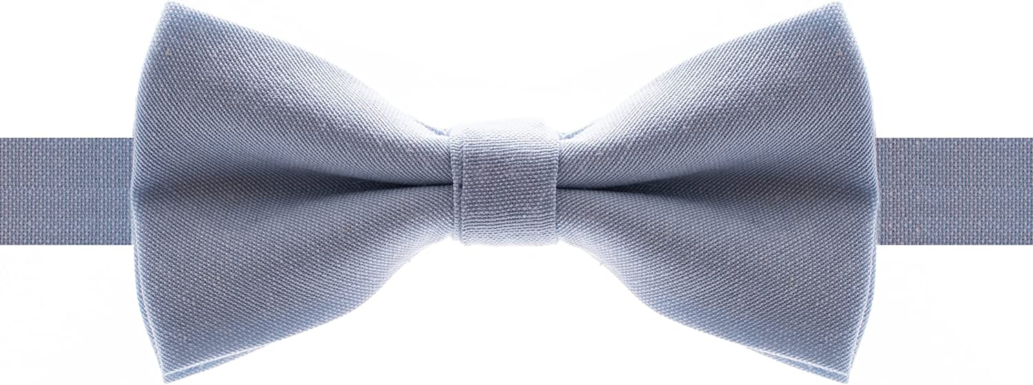 Man of Men - Pre-Tied Formal Pastel Cotton Bowtie - Adjustable Length - Huge Variety Colors Available