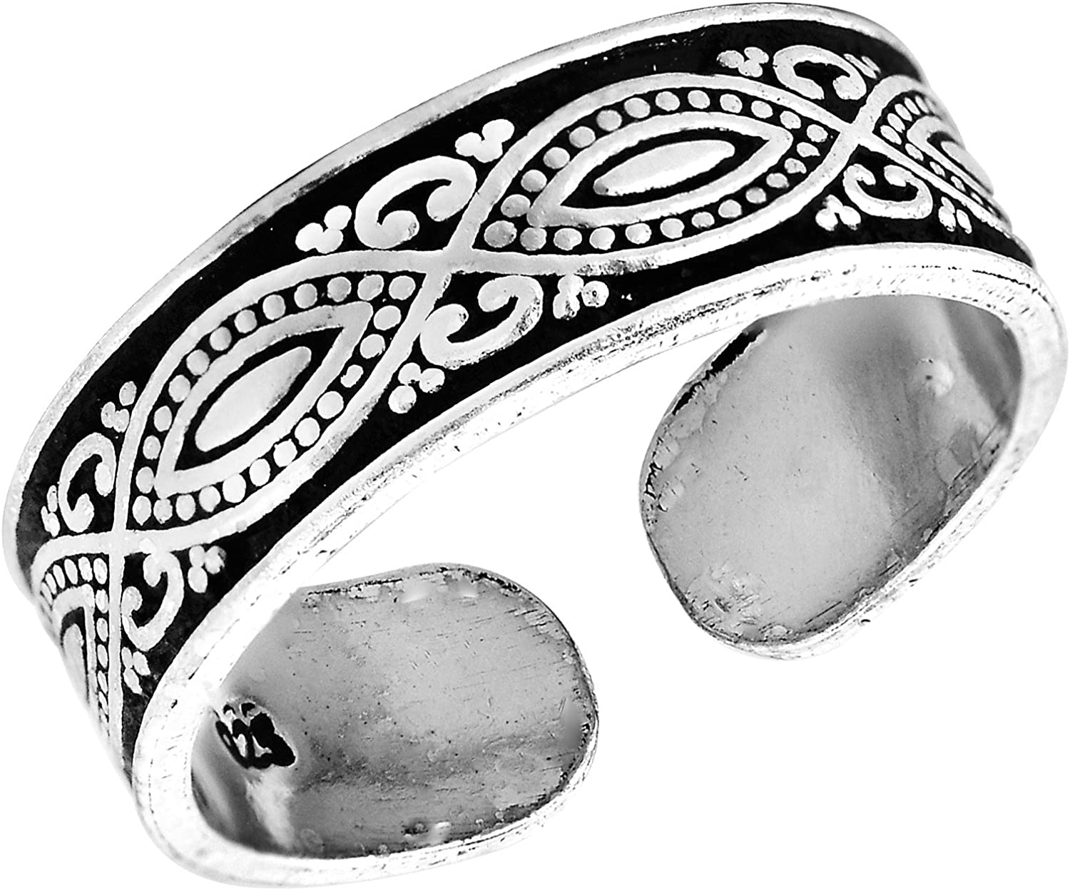 Decorative Balinese Popular brand Marquise Design Credence .925 Silver Sterling Rin Toe