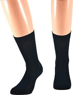 Fontana Calze, 12 paia di calze CORTE in puro cotone Filo di Scozia elasticizzate, confortevoli e rinforzate su punta e ta...