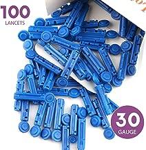 LotFancy Lancets, 30G, 100 Twist Lancets for Diabetic Blood Testing, Disposable