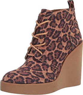 Jessica Simpson Women's Mesila Wedge Bootie Ankle Boot, Natural, 5.5