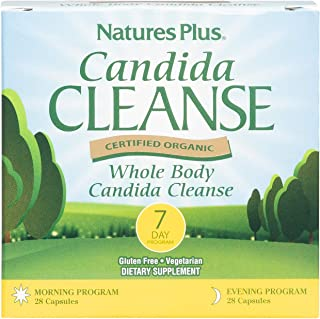 NaturesPlus Candida Cleanse Kit - 7 Day Morning & Evening Program, 56 Vegetarian Capsules - Restores Gut Health, Cleanses Intestines & Urinary Tract - Gluten-Free - 14 Total Servings