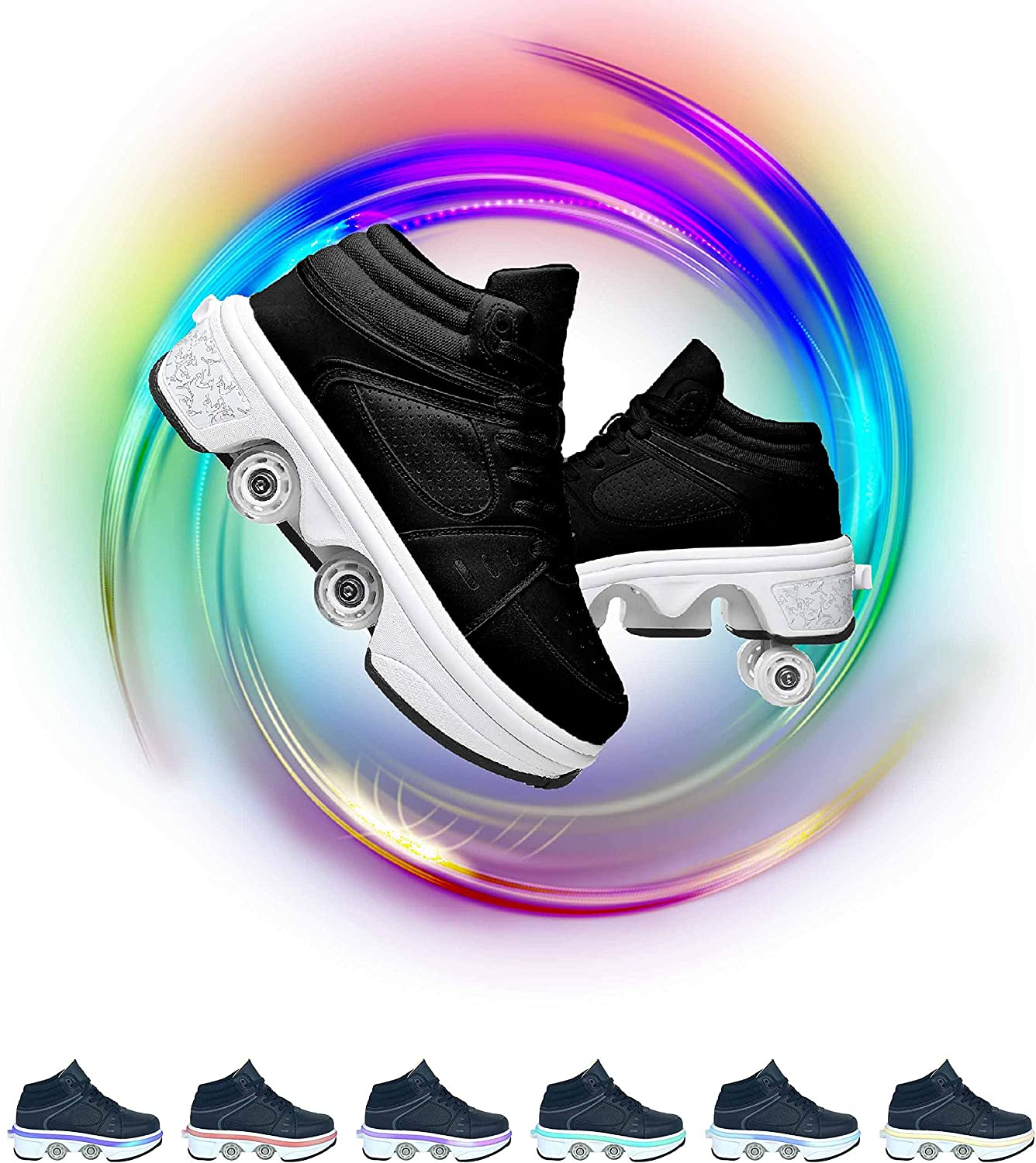 Deformation Roller Shoes Skates for Fashionable Autom Children's Women El Paso Mall Adult
