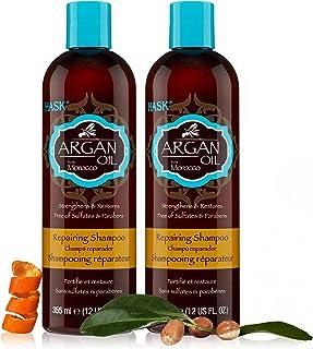 Hask Shampoo Argan Oil Repairing 12 Ounce (354ml) (2 Pack)