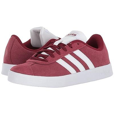 adidas Kids VL Court 2 (Little Kid/Big Kid) (Burgundy/White/Grey 2) Kids Shoes