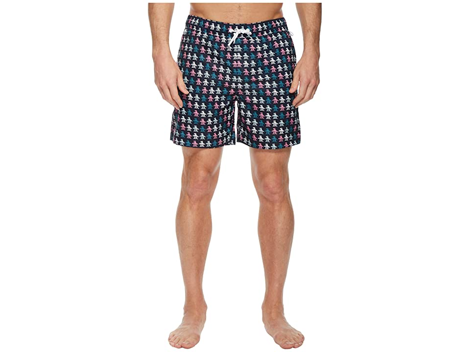 Original Penguin Digital Pete Print Swimwear (Dark Sapphire) Men