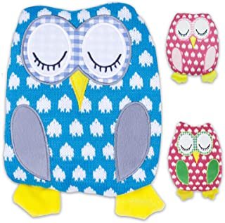 Petite Bouillotte passant au micro-ondes Chouette en tricot chaud personnel 3/couleurs