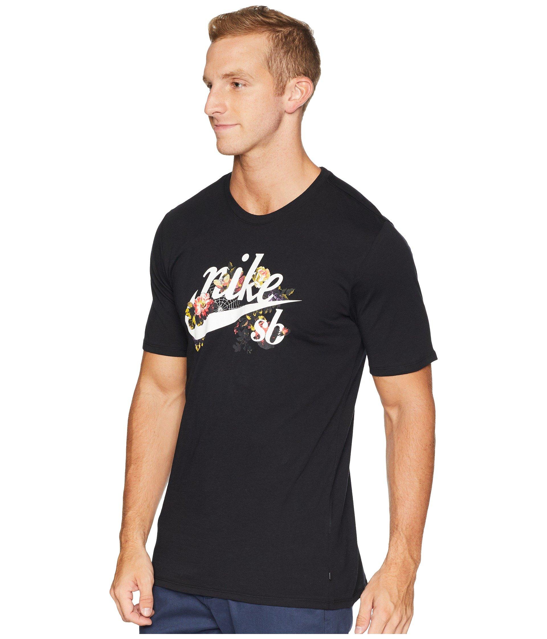 Floral Nike Black white Tee Sb Logo 1Hxpv8