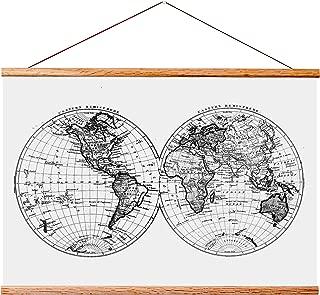 "Landmass 24"" Wide Magnetic Poster Hanger Frame – Wall Hanging Wooden Frame for.."