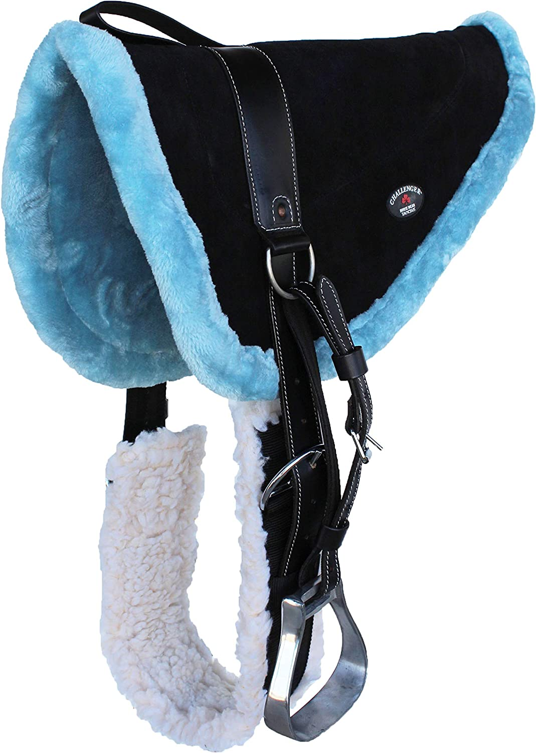 CHALLENGER Horse Genuine Saddle PAD Western Bareback Suede Girth Max 59% OFF Leather