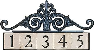 NACH KA House Address Sign/Plaque - Royal Gate, 5 Numbers, Iron, 22 x 9 x 1