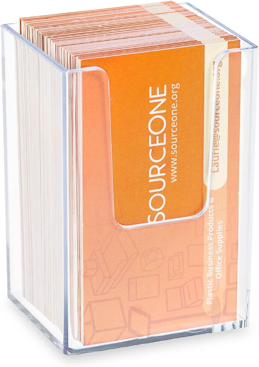 SOURCEONE.ORG Premium Clear Acrylic Cheap sale Pocket Vertical Dealing full price reduction Busin Single
