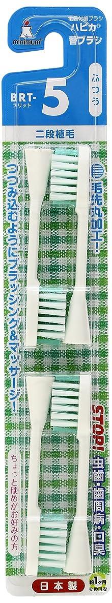 マニフェスト容器ステージミニマム 電動付歯ブラシ ハピカ 専用替ブラシ 2段植毛 毛の硬さ:ふつう BRT-5 4個入