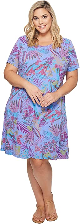 Extra Fresh by Fresh Produce - Plus Size Bright Botanical Sadie Dress