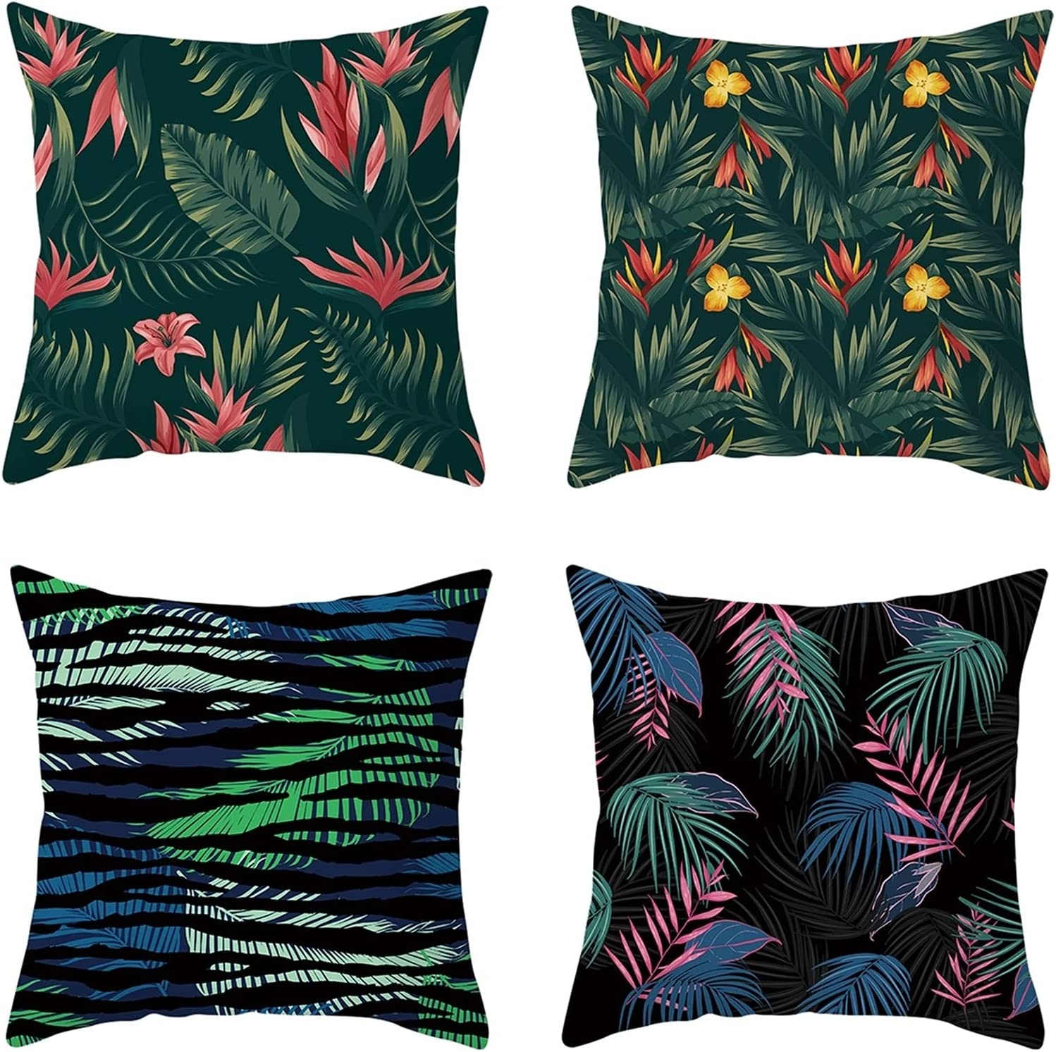 Daesar Throw Pillow Covers for Pack 4 Kids Challenge the lowest price of Japan ☆ Max 73% OFF B Cases