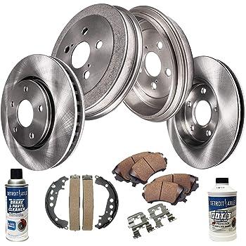 2013 Fit Toyota Yaris w//Rear Drum Brakes OE Replacement Rotors w//Ceramic Pads F
