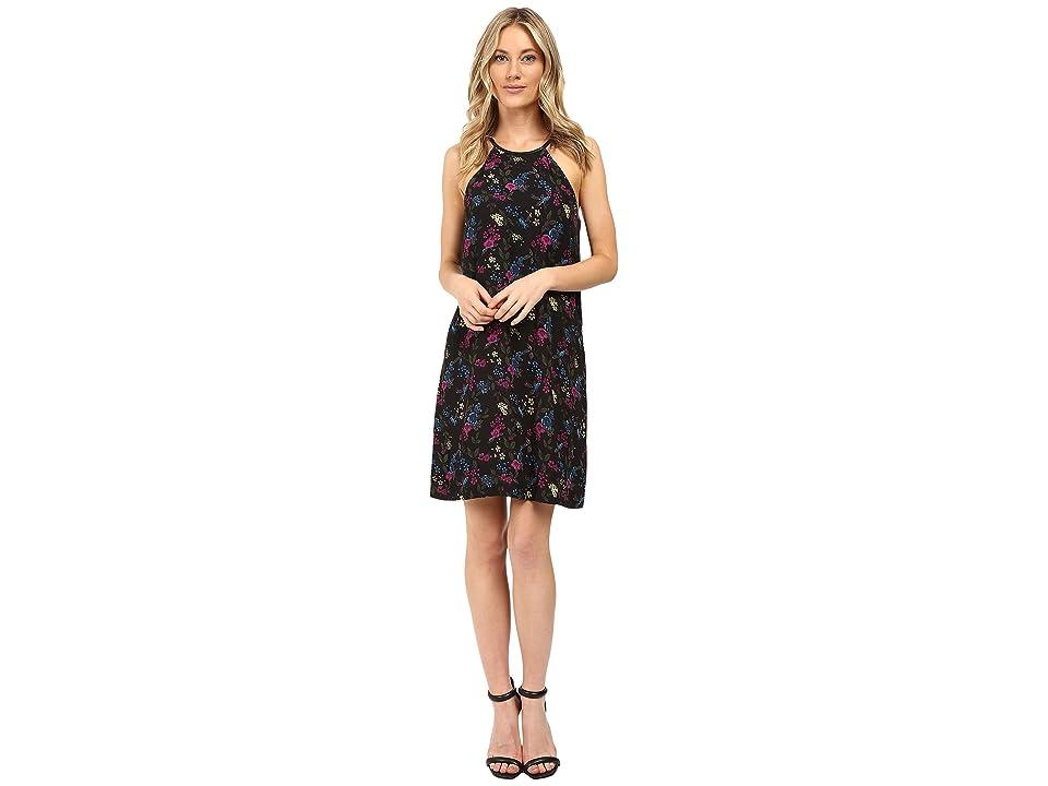kensie Bird Floral Dress KS0K7269 (Deep Ocean Combo) Women