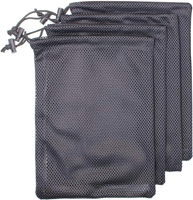 MoMaek Set of 4 Nylon Mesh Storage Ditty Bag Stuff Sack for Travel & Outdoor Activity