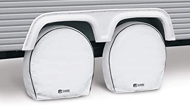 Classic Accessories OverDrive Deluxe RV & Trailer Wheel Cover, 4-Pack, White, (For 21
