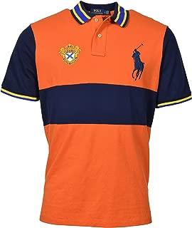 POLO RALPH LAUREN Men's Classic-Fit Crest Logo Big Pony Polo Shirt - L - Orange/Navy