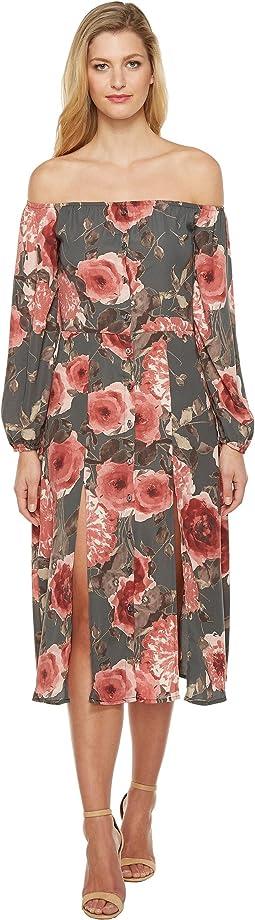 Brigitte Bailey - Petra Off the Shoulder Midi Dress