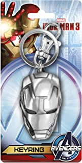 Marvel Iron Man 3 Head Pewter Key Ring