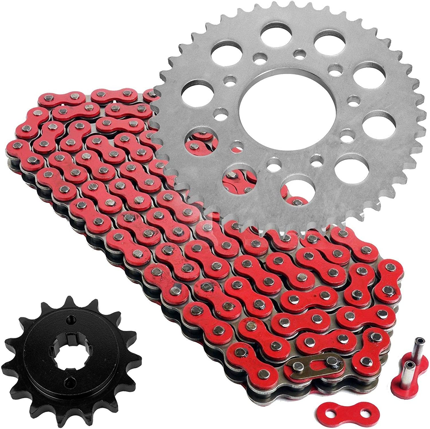Caltric depot Red Drive Chain and Sprocket Kit Compatible Honda with V Price reduction