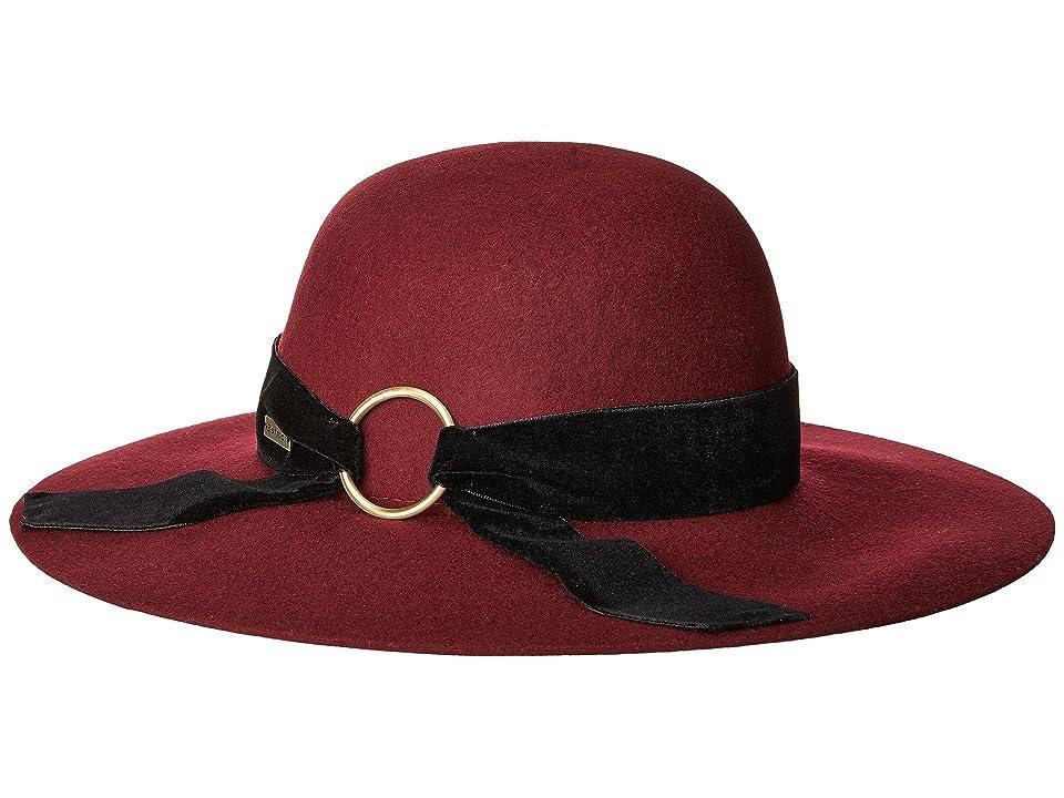 Women's Vintage Hats | Old Fashioned Hats | Retro Hats Betmar Wharton Cranberry Caps $60.00 AT vintagedancer.com