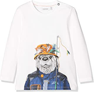 IKKS Junior Tee Shirt Ml Bleu Montagne T Bambino