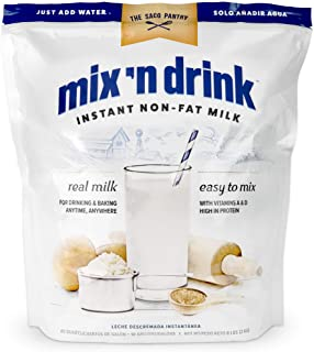 Sponsored Ad - SACO Mix 'n Drink Instant Skim Milk, Fat-Free, GMO-Free, Gluten-Free, Nut-Free, rBST Free, High Calcium and...