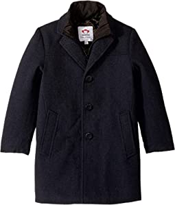 Double Lined Zip and Button Up City Overcoat (Toddler/Little Kids/Big Kids)