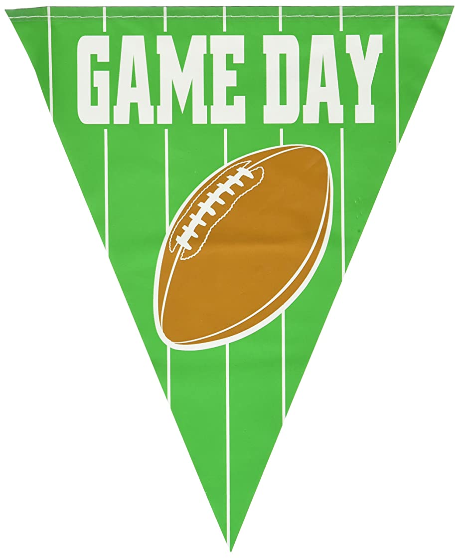 Game Day Football Pennant Banner Party Accessory (1 count) (1/Pkg)