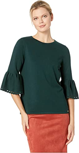 Crew Neck Bell Sleeve Sweater