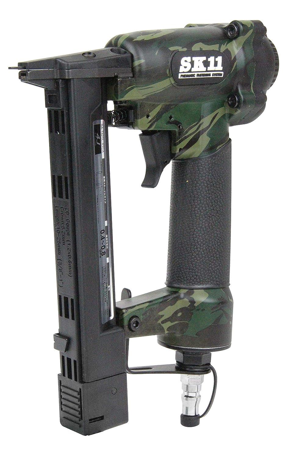 ドキュメンタリー毒スリッパSK11(エスケー11) エアタッカー 肩幅4mm 足長10~25mm SA-T425L-X1CA 4Jステープル用 迷彩柄 1年保証付き