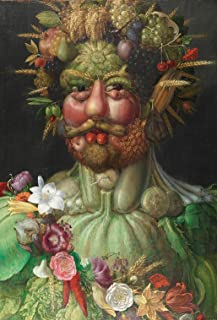 Colorful Art Puzzles for Adults 1000 Piece - Giuseppe Arcimboldo Famous Oil Painting- Four Seasons: Summer - 1000 Pieces J...