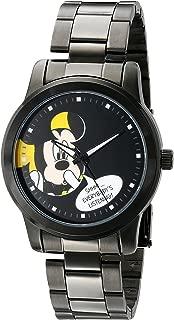 Disney Unisex W001840 Mickey Mouse Analog Display Analog Quartz Black Watch