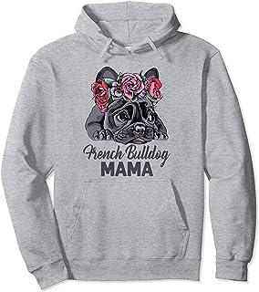French Bulldog Damen Kapuzenpullover Hoodie Geschenk Idee Französische Bulldogge
