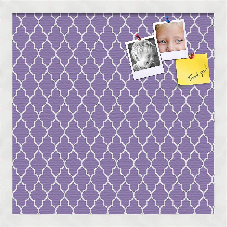 PinPix 14x14 Max 76% OFF Custom Cork Bulletin Poster Board Quatrefoil Purple It is very popular