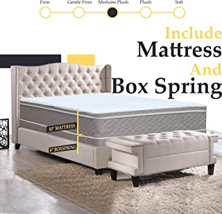 Continental Sleep Fully Assembled Twin Split Box Spring For Mattress,Fifth Ave Collection