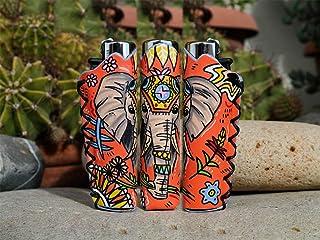 Porta accendino per Clipper disegnato a mano - Elefante Indiano