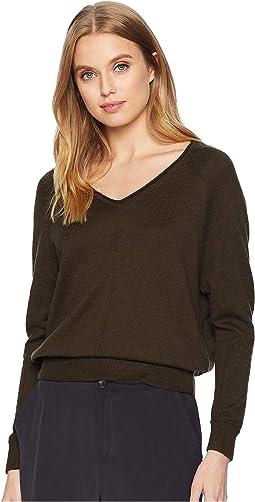 Cashmere Blend Soft V-Neck Pullover